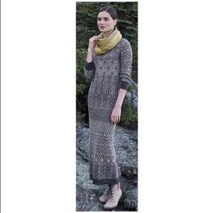 Anthropologie Multiburst Sweater Dress Gray Print